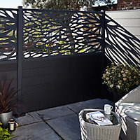 Blooma Neva Decorative 1/2 Fence panel (W)1.79m (H)0.88m