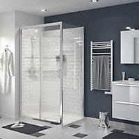 GoodHome Beloya Shower door with 2 panel sliding door (W)1200mm