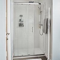 Cooke & Lewis Equinox Chrome Chrome effect Thermostat temperature control Mixer Shower