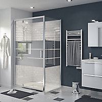 GoodHome Beloya Mirror glass Fixed Shower Shower panel (H)1950mm (W)800mm
