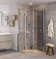 GoodHome Beloya Folding shower panel (W)800mm