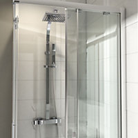 Cooke & Lewis Equinox Chrome effect Thermostatic Bar mixer shower with diverter
