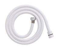 White PVC Shower hose, (L)1.5m