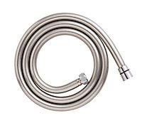 Cooke & Lewis Chrome & grey effect PVC Shower hose 1.5m