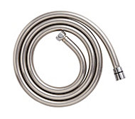 Cooke & Lewis Chrome & grey effect PVC Shower hose 1.75m