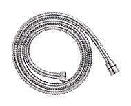 Cooke & Lewis Chrome effect Stainless steel Shower hose, (L)1.5m