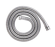 Cooke & Lewis Chrome effect Stainless steel Shower hose 2m