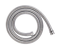 Cooke & Lewis Chrome effect Brass Stretch shower hose 2m