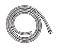 Cooke & Lewis Chrome effect Brass Shower hose, (L)2m
