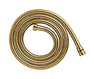 Cooke & Lewis Gold effect Brass Shower hose, (L)1.75m