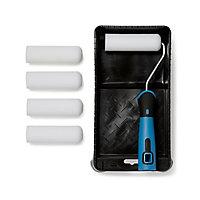 "Diall 4"" Polyester foam Mini Roller set, Pack of 7"
