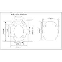 Cooke & Lewis Palmi White Standard close Toilet seat