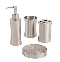Cooke & Lewis Fulda Metal Brushed effect Stainless steel Tumbler