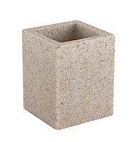 Cooke & Lewis Dvina Pebble Sandstone effect Polyresin Tumbler