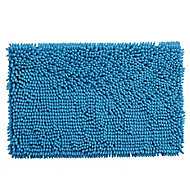 Cooke & Lewis Abava Blue Polyester Slip resistant Bath mat (L)800mm (W)500mm