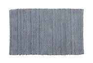 Cooke & Lewis Vorma Celadon Cotton Stripe & Tufty Slip resistant Bath mat (L)800mm (W)500mm