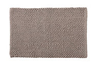 Cooke & Lewis Chanza Greige Cotton Dot & Tufty Slip resistant Bath mat (L)800mm (W)500mm