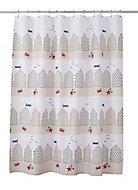 Cooke & Lewis Lago Multicolour Beach hut Shower curtain (L)1800mm
