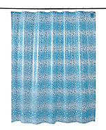 Cooke & Lewis Zuari Blue Bubble Shower curtain (L)1800mm