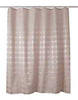 Cooke & Lewis Napo Taupe Dots Shower curtain (L)1800mm