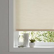 Corded Ivory Plain Roller Blind (W)180cm (L)160cm