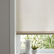 Colours Halo Corded Natural Roller blind (L)180 cm (W)90 cm