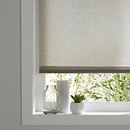 Colours Halo Corded Grey Roller blind (L)180 cm (W)90 cm