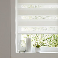 Colours Elin day & night Corded White Roller blind (L)180 cm (W)180 cm