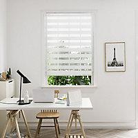 Elin Corded White Striped Day & night Roller Blind (W)180cm (L)180cm