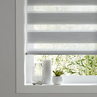 Colours Kala day & night Corded Grey Roller blind (L)180 cm (W)60 cm