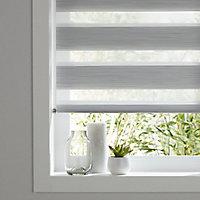 Kala Corded Grey Striped Day & night Roller Blind (W)60cm (L)180cm