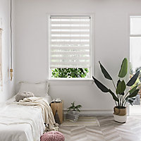 Kala Corded Natural Striped Day & night Roller Blind (W)120cm (L)180cm