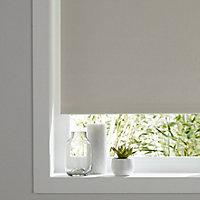 Boreas Corded Ivory Plain Blackout Roller Blind (W)90cm (L)180cm