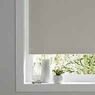 Boreas Corded Ivory Plain Blackout Roller Blind (W)120cm (L)180cm
