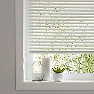 White PVC Venetian Blind (W)90cm (L)180cm