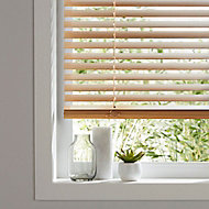 Cana Light brown Oak effect Basswood Venetian Blind (W)120cm (L)180cm