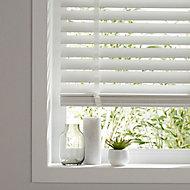 Lone White Wood grain effect PVC Venetian Blind (W)160cm (L)180cm