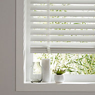 Lone White Wood grain effect PVC Venetian Blind (W)180cm (L)180cm