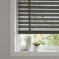 Lone Grey Wood grain effect PVC Venetian Blind (W)160cm (L)180cm