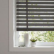Lone Grey Wood grain effect PVC Venetian Blind (W)180cm (L)180cm