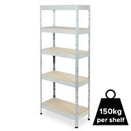 Form Exa 5 shelf Steel & chipboard Shelving unit
