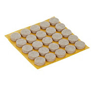Beige Felt Protection pad (Dia)13mm, Pack of 25