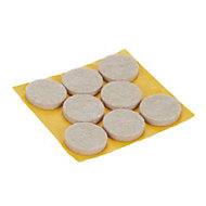 Beige Felt Protection pad (Dia)25mm, Pack of 8