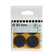 Brown Felt Protection pad (Dia)34mm, Pack of 4