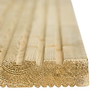 Madeira Softwood Deck board (L)2.4m (W)120mm (T)24mm, Pack of 5