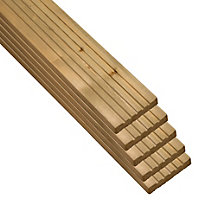 Blooma Madeira Value Deck board (T)24mm (W)120mm (L)2400mm, Pack of 5