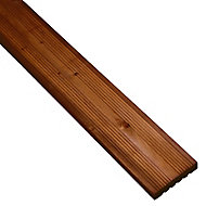Madeira Brown Softwood Deck board (L)2.4m (W)120mm (T)24mm, Pack of 5