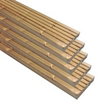 Madeira Value Deck board (T)25mm (W)95mm (L)1800mm, Pack of 5