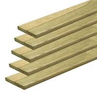 Natural green Deck board (T)20mm (W)95mm (L)2400mm of 5