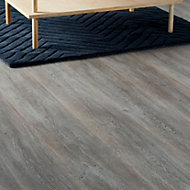 GoodHome Bundaberg Grey Oak effect Laminate flooring, 2.47m²